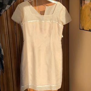 Talbots size 10 cream evening dress